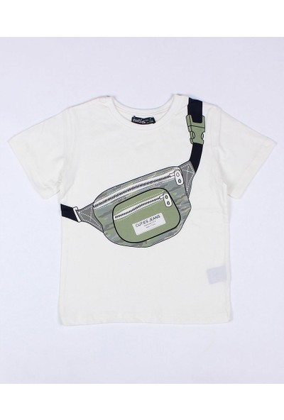 Cuties Erkek Çocuk Çantalı Tshirt