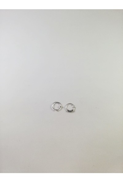 Takıparkxs Delik Olmadan Takılabilen Sıkıştırma 925 Ayar Gümüş Ikili Halka Hızma Set