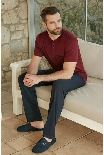 Eros ESE26120 Pamuklu Kısa Kol Erkek Pijama Takım