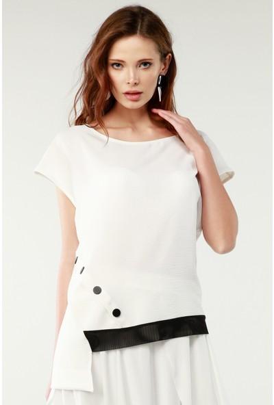 Nilmark Kadın Beyaz Bluz