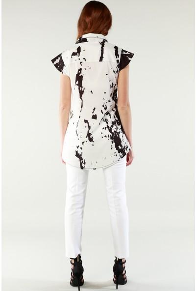 Nilmark Kadın Beyaz Pantolon