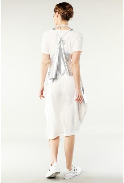 Nilmark Kadın Beyaz-Silver Elbise