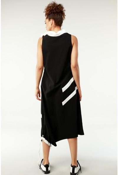 Nilmark Kadın Siyah-Beyaz Elbise