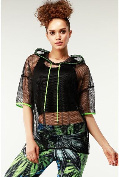 Nilmark Kadın Siyah-Neon Bluz
