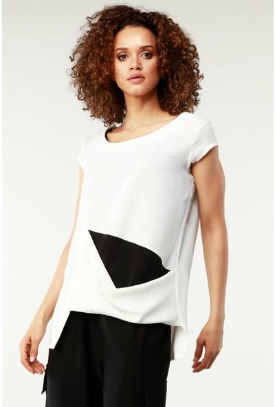 Nilmark Kadın Siyah-Beyaz Bluz
