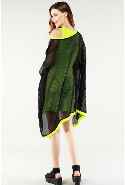 Nilmark Kadın Siyah-Neon Elbise