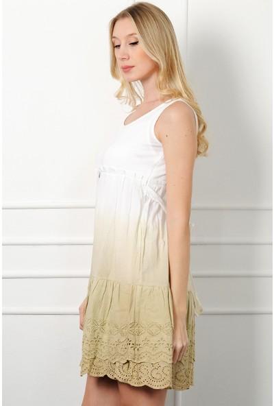 Pinkmark Kadın Bej Elbise
