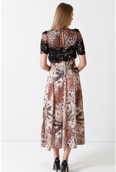 Herry Kadın Bej Elbise