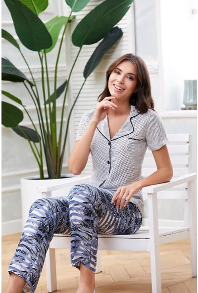 Dowry Boydan Düğmeli Pijama Takım