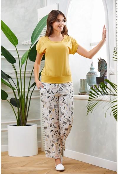 Dowry Sarı Pijama Takımı