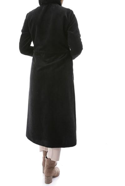 Miostil Ülf Fermuarlı Kapşon Kürk Ceket