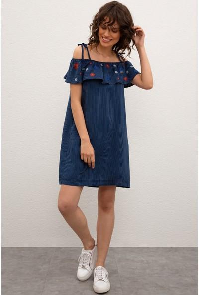 U.S. Polo Assn. Kadın Denim Elbise 50223991-Dn0022