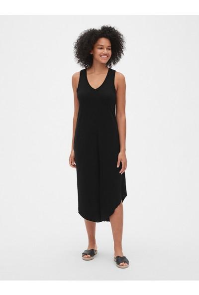 Gap Kadın V-Yaka Midi Elbise