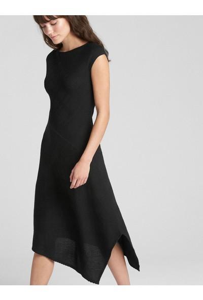 Gap Softspun Asimetrik Kesim Midi Elbise