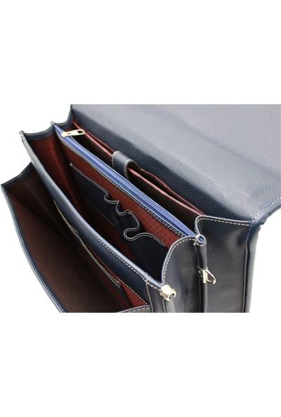West Polo 2011 Laptop Bölmeli Evrak Çantası Lacivert