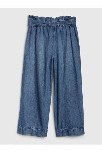 Gap High Rise Wide-Leg Crop Jean Pantolon