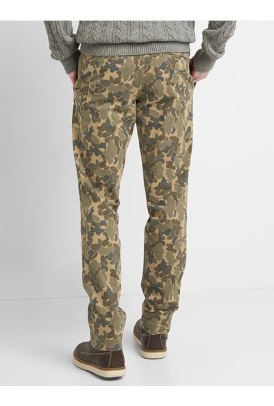 Gap Vintage Yıkamalı Slim Fit Khaki Pantolon