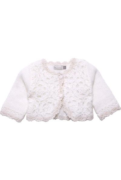 Catimini Spirit Couture Newborn Hırka Ekru 6 Ay