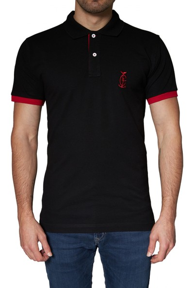 Bagazzi Marka Polo T-Shirt Siyah