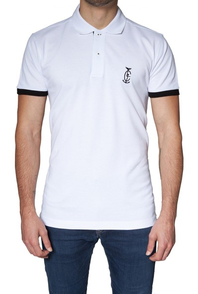 Bagazzi Marka Polo T-Shirt Beyaz