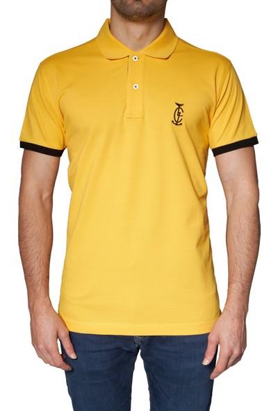 Bagazzi Marka Polo T-Shirt Sarı