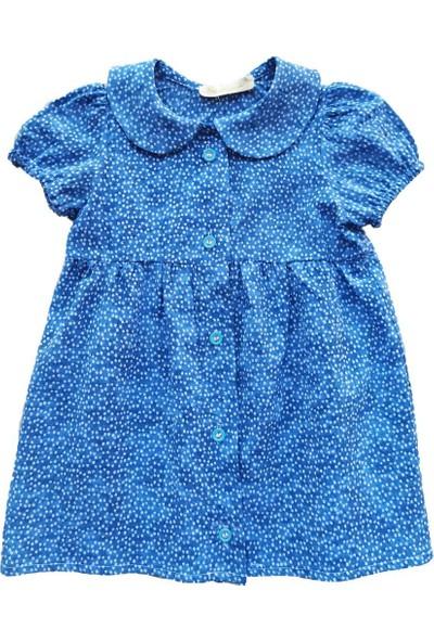 Nemi̇si̇a Çiçek Desenli Elbise Mavi 24 Ay
