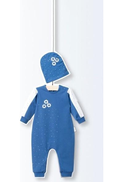 Wogi Taşlı Alttan Çıtçıtlı Ayaksız 2'li Bebe Tulum Set