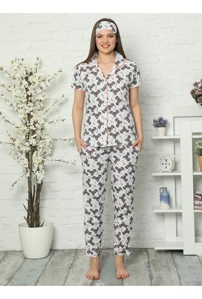 Akbeniz Kadın 3`lü Pijama Takımı