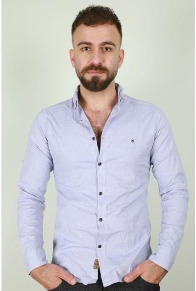 Z Giyim Erkek Slim Fit Uzun Kol Pamuklu Gömlek