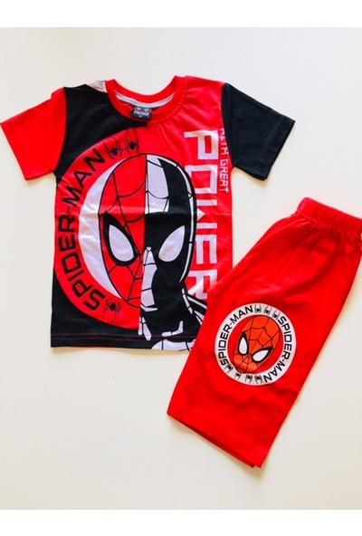 Spiderman Örümcek Adam Spiderman Tshirt Şort Takım Eşofman Kostüm