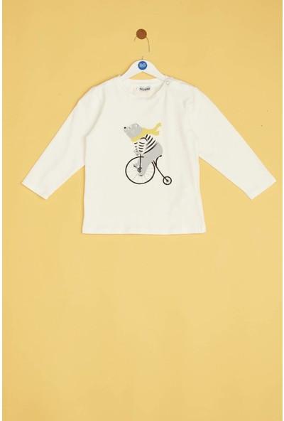 Riccione Erkek Bebek Ekru T-Shirt