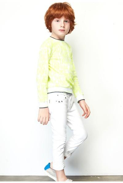 Nebbati Erkek Çocuk Beyaz Pantolon