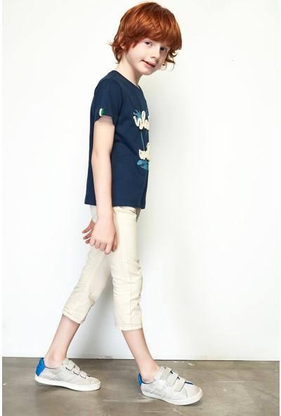 Nebbati Erkek Çocuk Ekru Pantolon