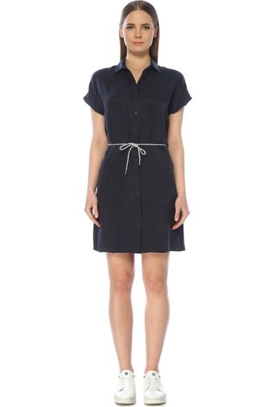 Network Kadın Diz Boy Lacivert Elbise