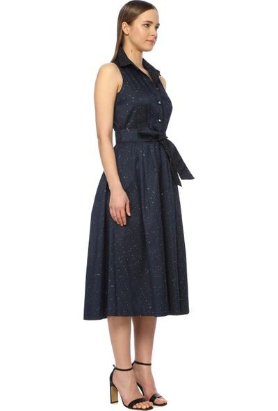 Network Kadın Uzun Boy Lacivert Elbise