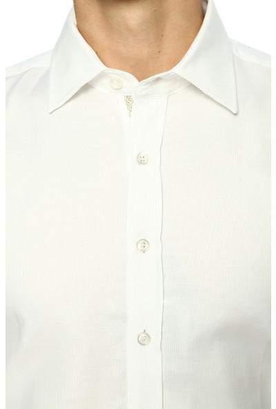 Network Erkek İtalyan Yaka Beyaz Gömlek
