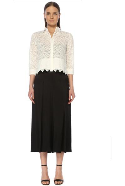 Network Kadın Basic Fit Beyaz Gömlek