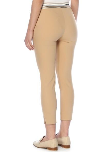 Network Kadın Slim Fit Bej Pantolon