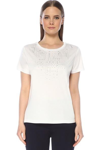 Network Kadın Regular Fit Beyaz Tshirt
