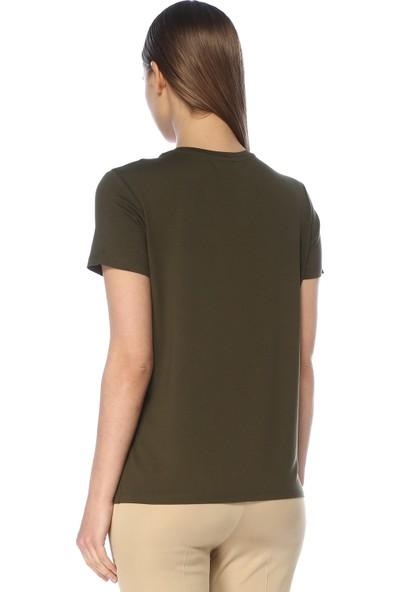 Network Kadın Regular Fit Haki Tshirt
