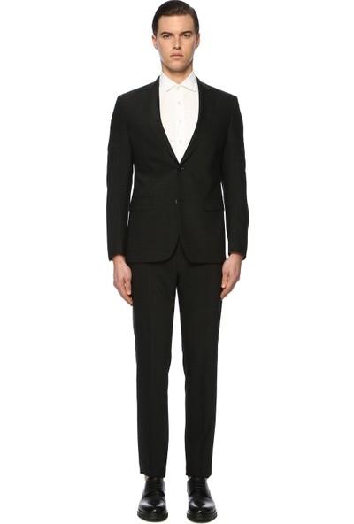 Network Erkek Ekose Siyah Takım Elbise