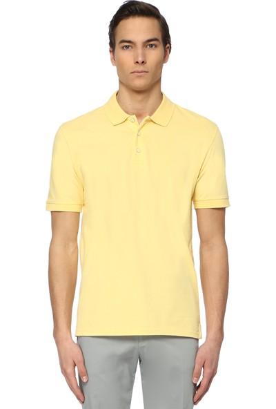 Network Erkek Slim Fit Polo Yaka Sarı Tshirt