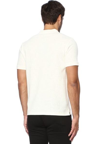 Network Erkek Polo Yaka Ekru Tshirt