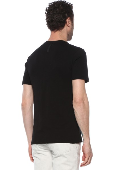 Network Erkek Slim Fit Siyah Tshirt