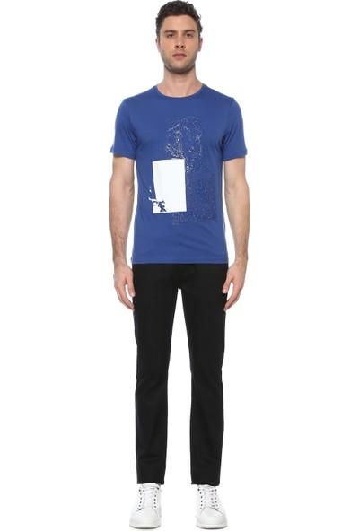 Network Erkek Slim Fit Saks Tshirt