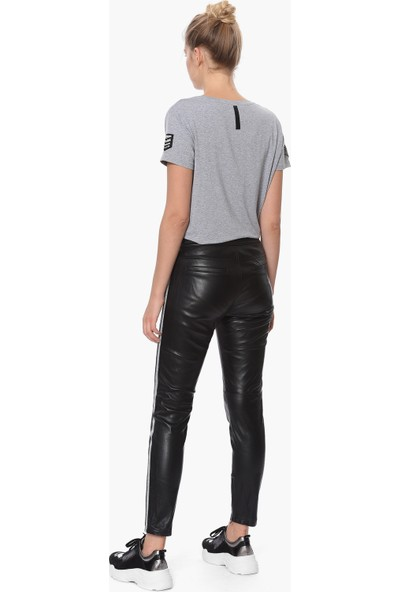 Que Kadın Siyah Skinny Deri Pantolon