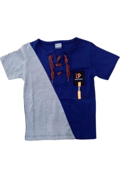 Barkod Kids Erkek Çocuk Dar Kalıp Önü İp Detaylı Tişört