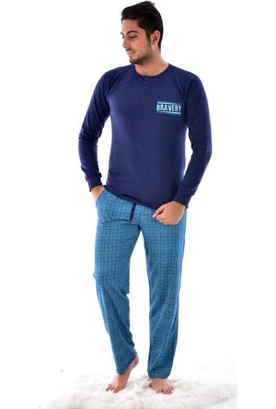 Akare 323 Modal Pijama Takımı Lacivert