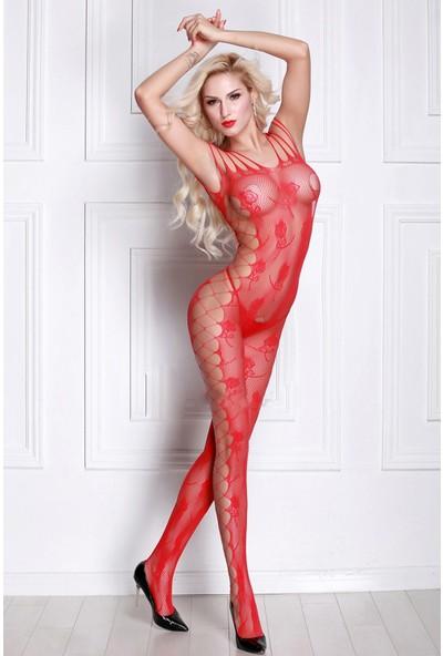 İntimo 9029 Vücut Çorabı Kırmızı