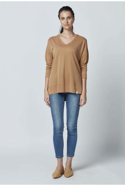 Letoile Modal Polyester Dökümlü Uzun Kollu Bluz